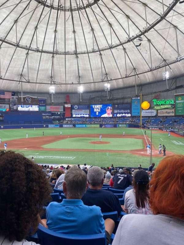 Tropicana Field, section: 109, row: FF, seat: 6