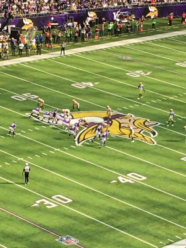 U.S. Bank Stadium, section: 315, row: B, seat: 5