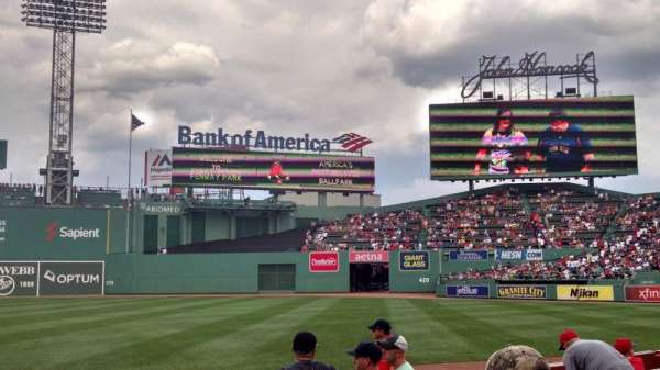 Fenway Park, section: Field Box 10, row: F, seat: 2