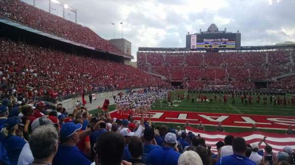Ohio Stadium, section: 8AA, row: 10, seat: 6