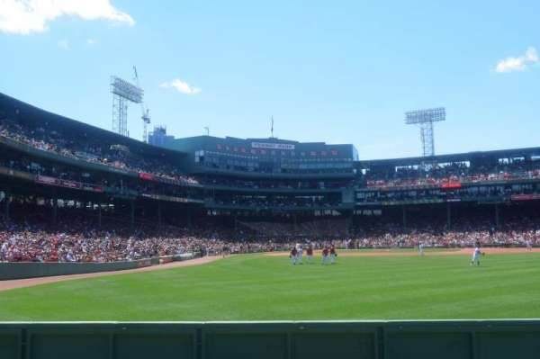 Fenway Park, section: Bleacher 42, row: 1, seat: 16