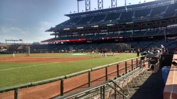 Oracle Park, section: 127, row: 1, seat: 4