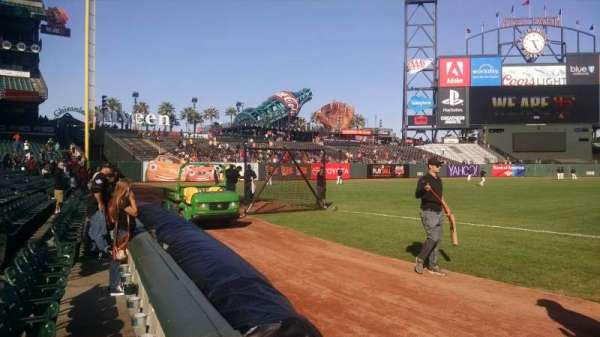 AT&T Park, section: 127, row: 1, seat: 4