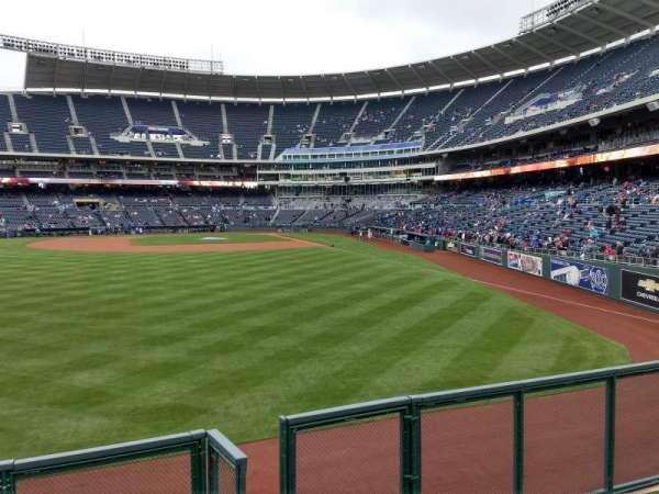 Kauffman Stadium, section: 104, row: a, seat: 13