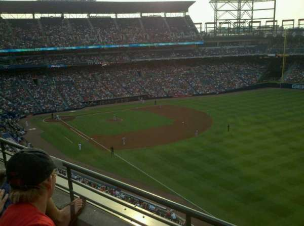 Turner Field, section: 425, row: 2, seat: 106