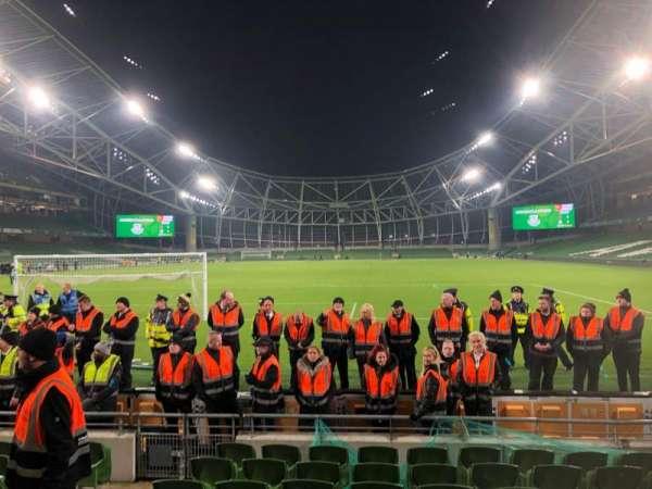 Aviva Stadium, section: 114, row: J, seat: 11