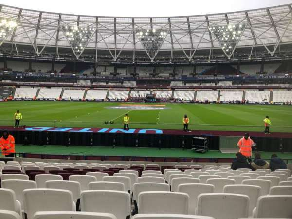 London Stadium, section: 136, row: 12, seat: 244