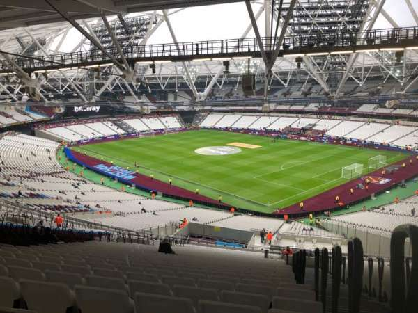 London Stadium, section: 243, row: 69, seat: 218