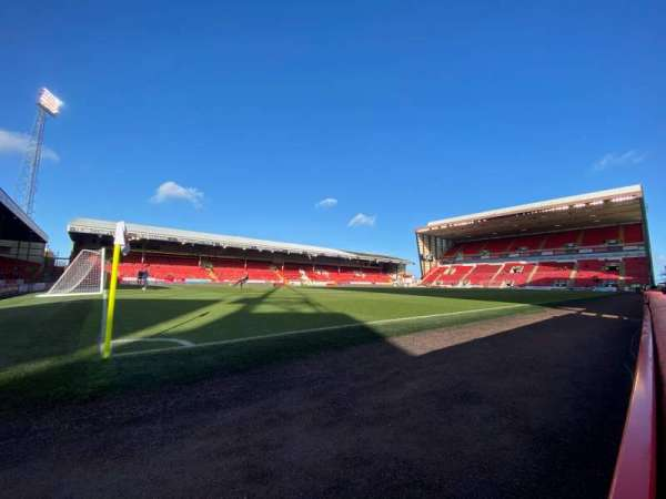 Pittodrie Stadium, section: X, row: A, seat: 239
