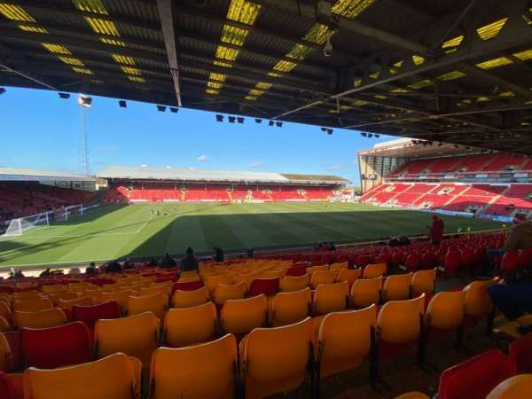 Pittodrie Stadium, section: W, row: HH, seat: 186