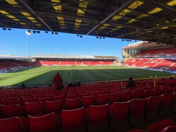 Pittodrie Stadium, section: V, row: GG, seat: 163