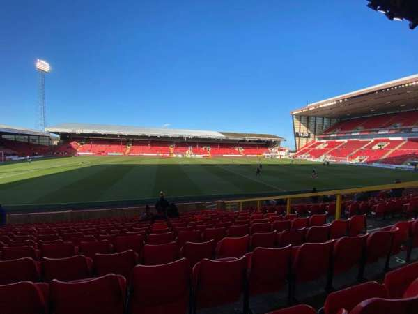 Pittodrie Stadium, section: V, row: R, seat: 159
