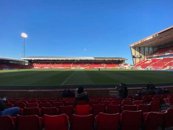 Pittodrie Stadium, section: T, row: J, seat: 127