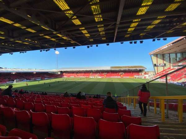 Pittodrie Stadium, section: S, row: FF, seat: 93