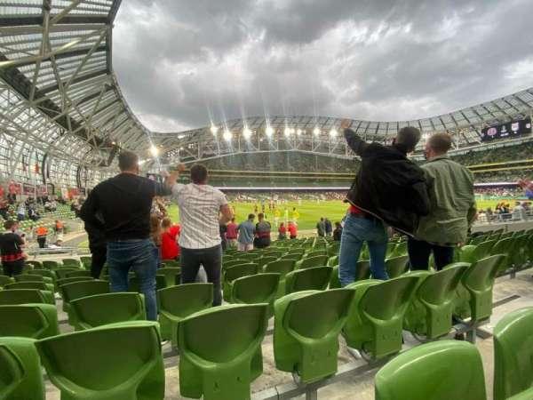Aviva Stadium, section: 128, row: Q, seat: 7