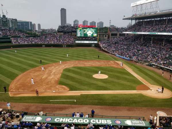Wrigley Field, section: 311L, row: 1, seat: 6