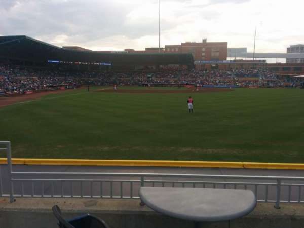 Durham Bulls Athletic Park, section: 134, row: D, seat: 6