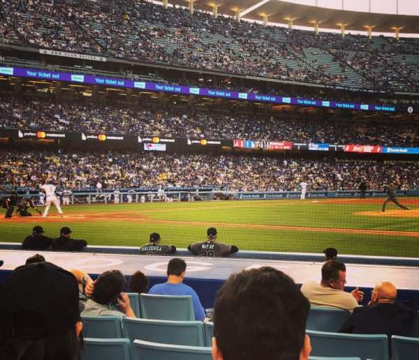 Dodger Stadium, section: Field Box MVP 20, row: C