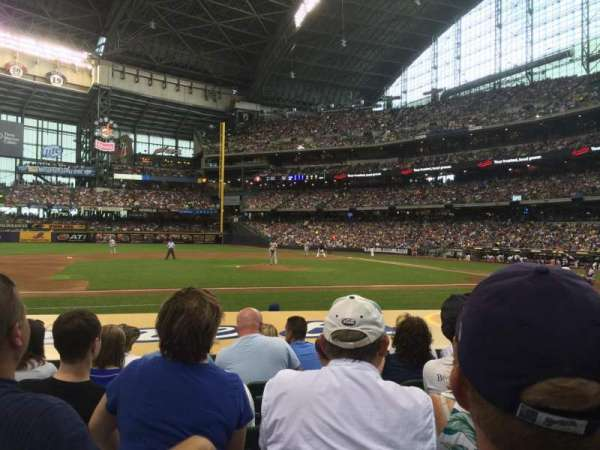 Miller Park, section: 122, row: 9, seat: 13