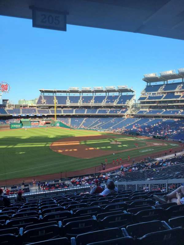 Nationals Park, section: 205, row: L, seat: 8