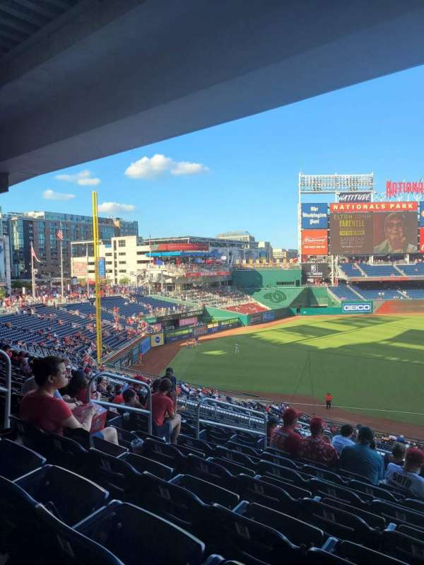 Nationals Park, section: 205, row: L, seat: 9