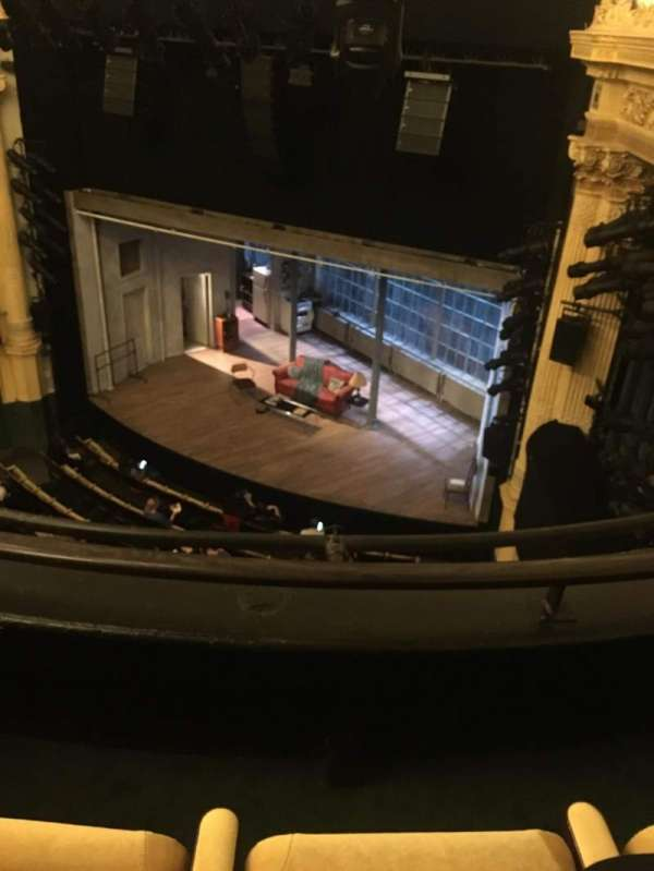 Hudson Theatre, section: Balcony R, row: B, seat: 10