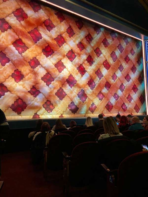 Brooks Atkinson Theatre, section: Orchestra L, row: E, seat: 1