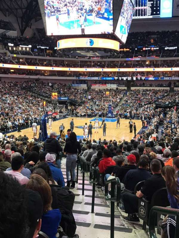 American Airlines Center, section: 124, row: R, seat: 1