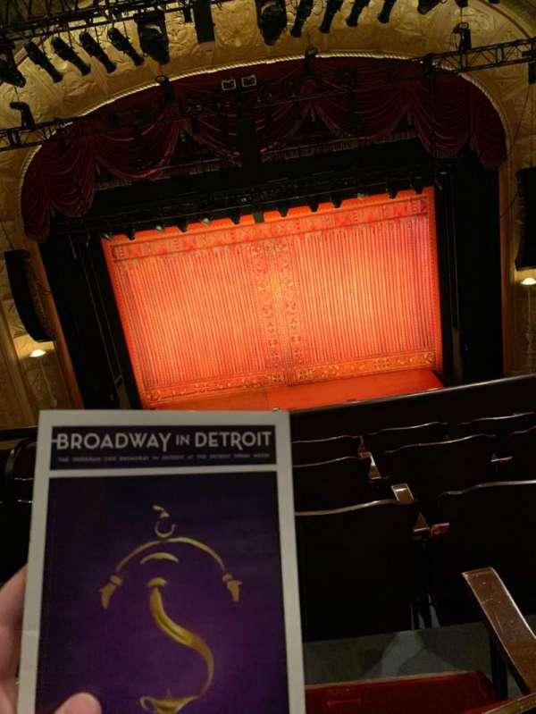Detroit Opera House, section: Trustee Circle 1, row: A, seat: 202