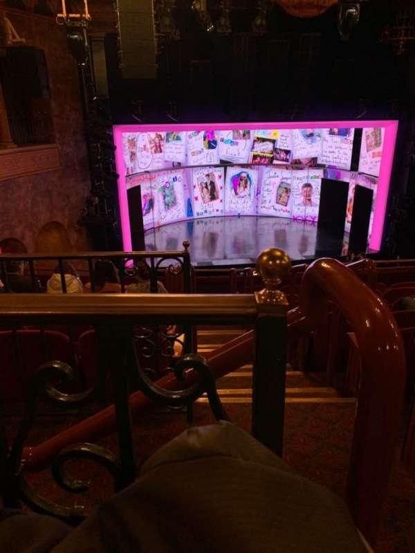 August Wilson Theatre, section: Mezzanine L, row: H, seat: 1