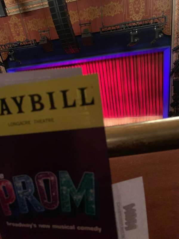 Longacre Theatre, section: Balcony C, row: A, seat: 101