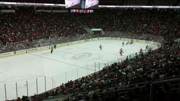 PNC Arena, section: 107