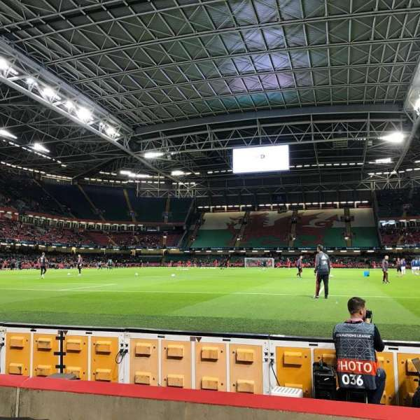Principality Stadium, section: L18, row: 5, seat: 13