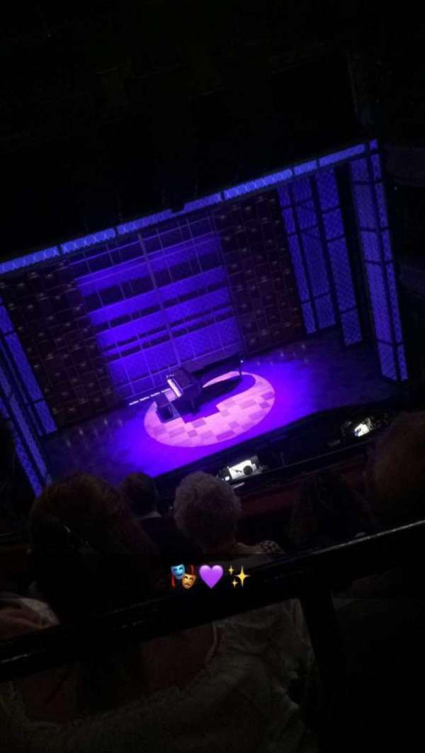 Aldwych Theatre, section: Grand Circle, row: D, seat: 22