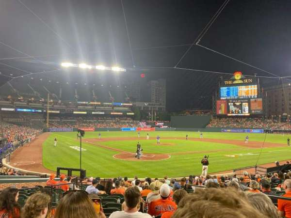 Oriole Park at Camden Yards, section: 34, row: 18, seat: 3