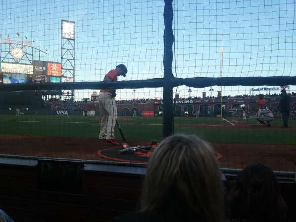 Oracle Park, section: DC119, row: CCC, seat: 9