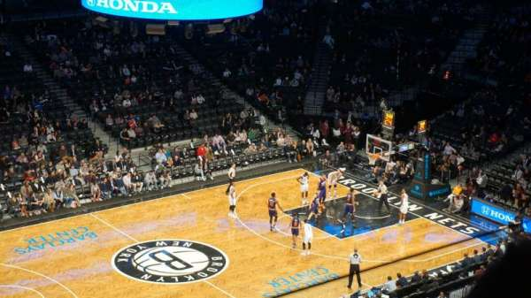 Barclays Center, section: 210, row: 2, seat: 26