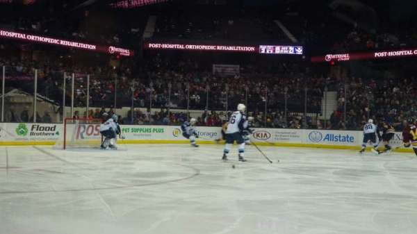 Allstate Arena, section: 103, row: AA, seat: 18