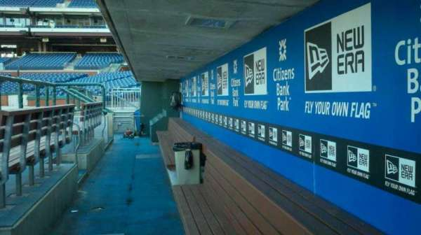 Citizens Bank Park, section: dugout
