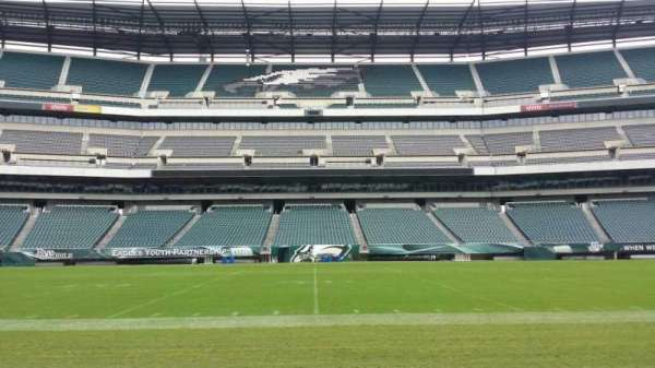 Lincoln Financial Field, section: Sideline, row: 50 yard li, seat: Player Bench