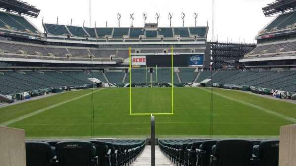 Lincoln Financial Field, section: 100 level