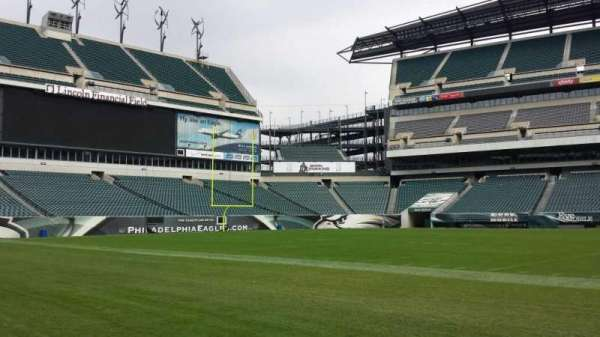Lincoln Financial Field, section: Sideline, row: Field, seat: Player Bench