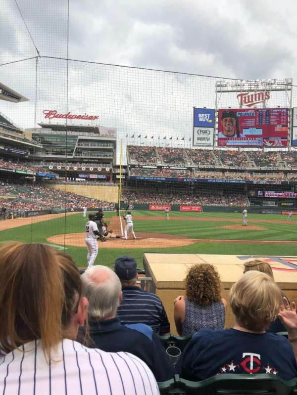 Target Field, section: 6, row: 8, seat: 15