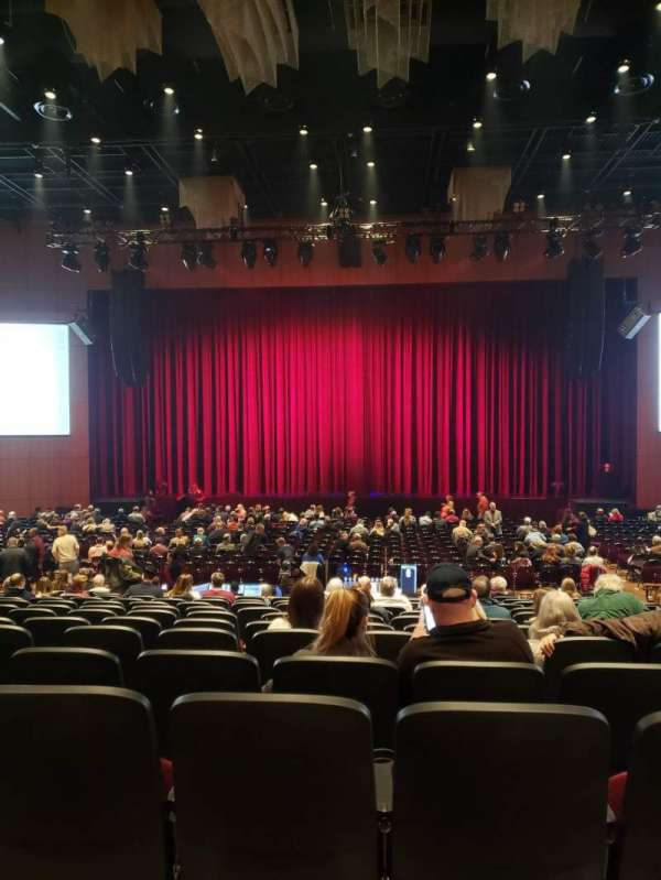 The Theater at MGM National Harbor, section: 103, row: P, seat: 8