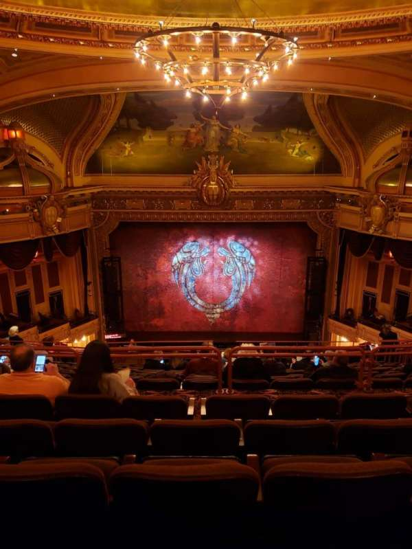 Hippodrome Theatre, section: Center Upper Balcony, row: Q, seat: 309-310