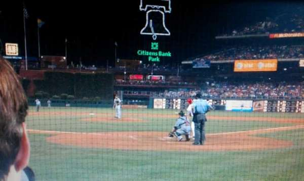 Citizens Bank Park, section: C, row: 5, seat: 1