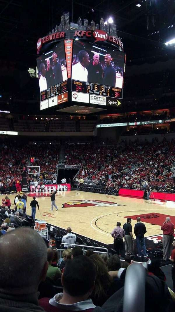 KFC Yum! Center, section: 113, row: N, seat: 8