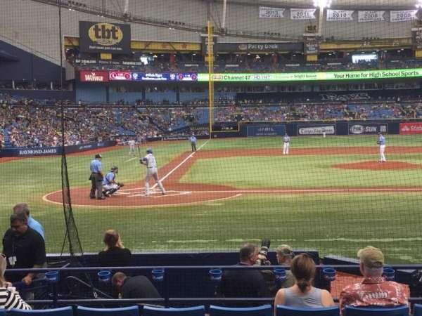 Tropicana Field, section: 110, row: N, seat: 5