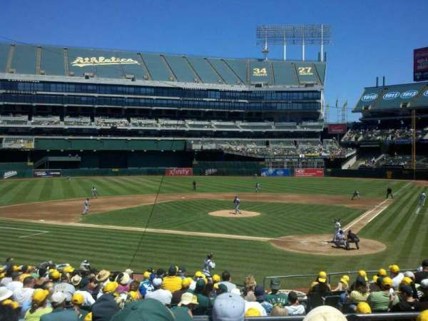 Oakland Coliseum, section: 119R, row: 25, seat: 6