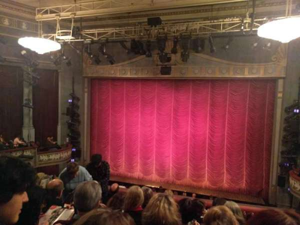 Broadhurst Theatre, section: Center Mezzanine, row: F, seat: 114